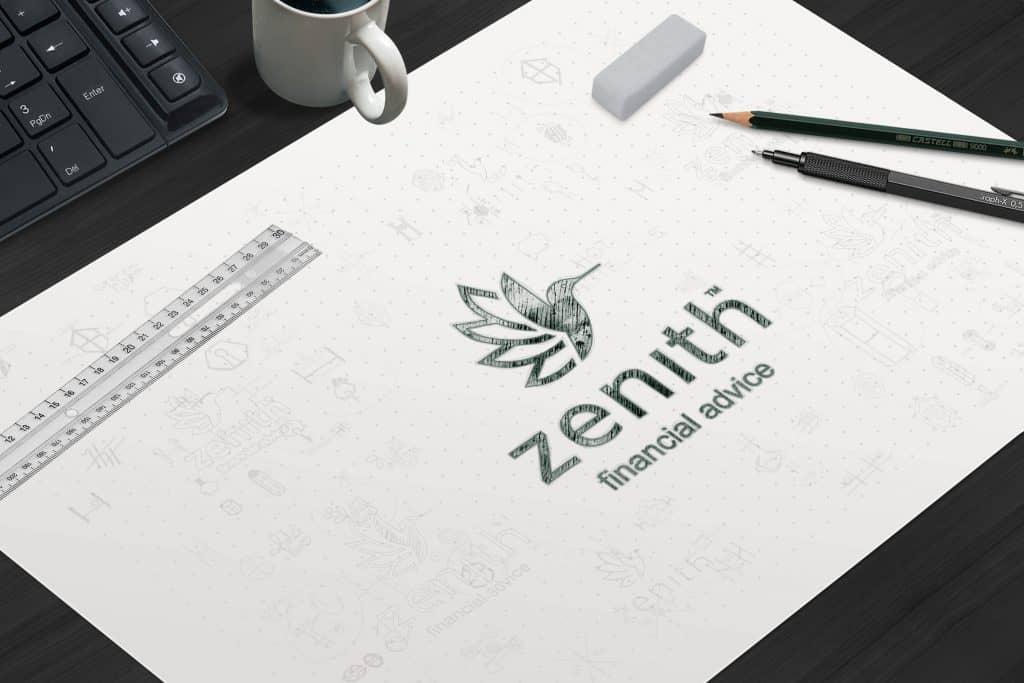 Zenith Wealth Logo Flat Sketch Niche Ignite