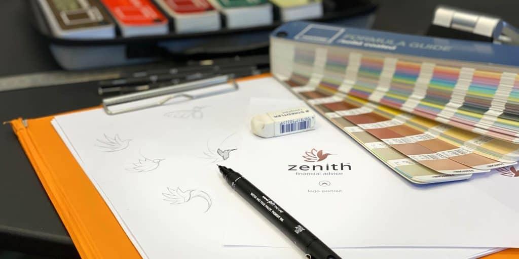 Business Logos Niche Ignite Zenith Wealth Financial