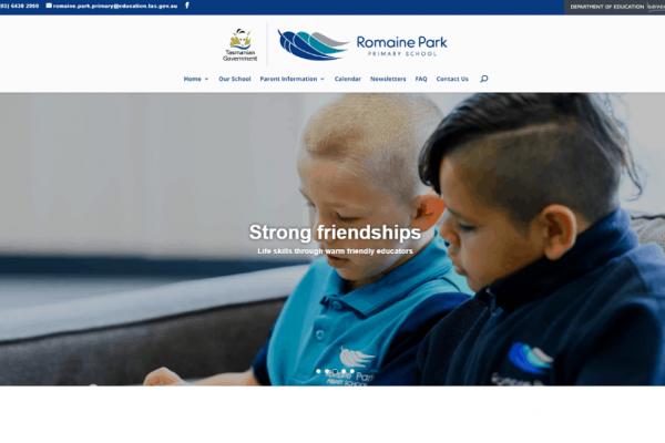 Niche Ignite - WordPress websites - Romaine Park Primary School - WordPress